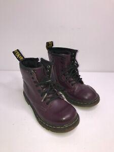 Children's Purple Dr Martens Size 8 UK