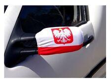 Polish Flag for car FLAGA samochodowa Polski na 2 lusterka Flagi pokrowiec EURO