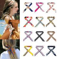 2 pcs mode petite écharpe en soie pour bandeau/foulard/bracelet/ceinture
