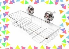 BlueHills Super Strong suction cup Large Long Shower Caddy Kitchen Organizer