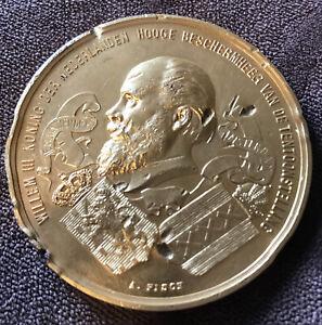 Netherlands Willem III 1883 Dutch Exhibition Gold Medal