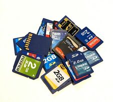 Lot of 10 Mixed Brand 2GB SD Cards
