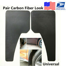 Pair Carbon Fiber Look Black Car Front+Rear Wheel Fender Mud Flaps Mudguard -USA