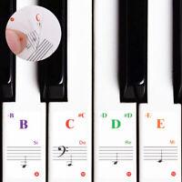 Piano Autocollant Musique Clavier Mémoire Apprentissage Aide Décalque Note