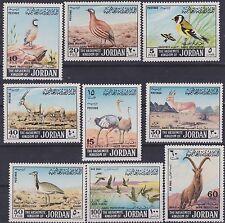 JORDAN 1968 /MNH/ SC# 552-558, C49,C50/ ANIMALS, WLDLIFE, BIRDS