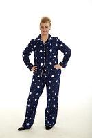 Ladies Pyjamas 100% Cotton Winter Warm Womens Long Sleeve PJ'S