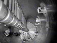 BLACK WHITE PHOTOGRAPHY BIG ATOM SMASHER SCIENCE PHYSICS POSTER PRINT ABB6345B