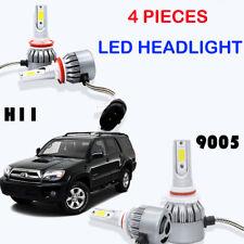 LED Headlight Bulbs H11 9005 HB3 For Toyota 4Runner 2009-2006 High Low Beam 4PCS