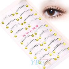 10Pair Handmade Natural Cross Lower Under Bottom Fake False Eyelashes Eye Lashes