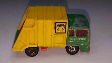 Vintage Matchbox Superfast No.36 REFUSE GARBAGE TRUCK China State City Green Car