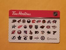 2018 Tim Hortons NHL Teams Empty Gift Card Reloadable RARE 31 Teams