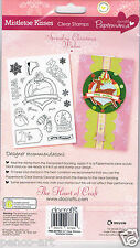 Papermania Merry Christmas clear 18 stamp set Mistletoe kisses reindeer snowman