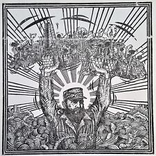 "Cuban Art. Xylography by Juan Carlos Menendez. La Isla en Peso, n/d. 22"" x 22""."