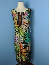 NEW ALLISON DALEY Women's Plus Size 18 Sleeveless Tropical Print Dress NWT