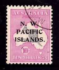 N. W. Pacific Islands 1919 Kangaroo 10/- 3rd Watermark Used - Listed Variety