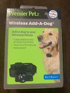 Premier Pet GIF00-16918 Wireless Add-A-Dog Collar 8Lbs+ for Wireless Fence