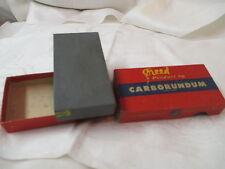 Vintage Razor Hone Honing Stone Carborundum Niagara Falls NY original box #118S