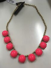 J Crew Chunky Candy Dot Statement Necklace In Hot Pink NWT & Bag Awesome!