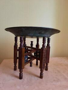 Orientalischer Beistelltisch Teetisch, Höhe mit Schale 34 cm