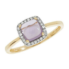 9 Carat Yellow Gold Amethyst Cluster Fine Rings