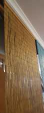 Bamboo Door Curtain Room Divider Or Wall Art Natural 90cm x 200cm Ready To Hang