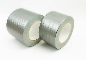 50mm/75mm/100mm/150mm Strong Duct Gaffa Tape Waterproof Cloth Tape Silver 50m