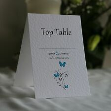WEDDING TABLE Number Cards Personalised Freestanding Double Sided - Butterflies