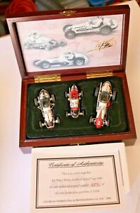 GMP 1:43 A.J.FOYT 3 CAR DIRT SET Bowes Seal Fast Specials LTD. ED in wood box