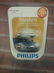 Philips Standard Mini Light Bulb 12844B2 C5W 12V 5W Standard Mini rv