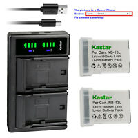 USA CB-2LH CB-2LHT CB-2LHE Battery Charger for Canon NB-13L Li-Ion Battery
