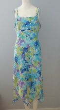 FAIRWEATHER Size 4 Multi-Color Floral Fully-Lined Spaghetti Strap Dress