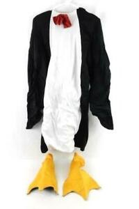 Penguin Costume Fits Teens Ages 13-16 Black White with Shoe Covers