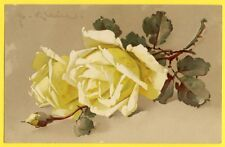 "cpa MEISSNER & BUCH LEIPZIG ""Photocolor"" Superbe LITHO Signée C. KLEIN Rosenduft"