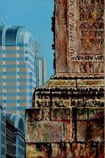 "ORIGINAL HUGH BEATTIE OIL ""The Monument v 20 Gracechurch St"" London PAINTING"