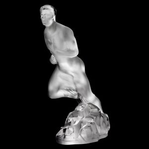 LALIQUE Crystal NUDE Runner male ATHLETE Statue Sculpture Mint in Box NEW