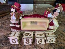 Disney Parks Victorian Mickey & Minnie Mouse Christmas countdown calendar EUC