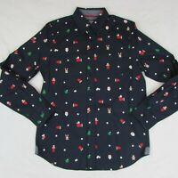 Eighty Eight Christmas Button Up Shirt Men's Long Sleeve Shirt Reindeer Red Cup