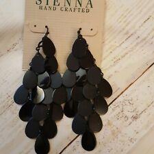 Sienna dangle pierced dangle diamond shape earrings fashion jewelry
