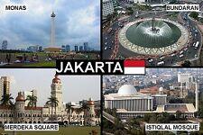 SOUVENIR FRIDGE MAGNET of JAKARTA INDONESIA