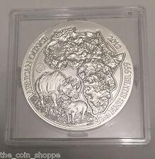 RWANDA RHINO - 2012 1 oz Silver Coin African Wildlife Fabulous 15 F15 PRIVY MARK