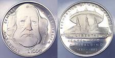 1000 Lire 1982 Centenario Garibaldi San Marino Argento Silver Proof #1047