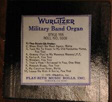 Wurlitzer Military Band Organ Roll, Style 165, Roll #6606.