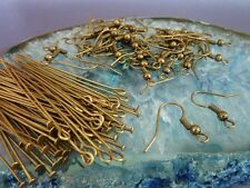 Antique Bronze Earring Kit includes Hook Ear Wires, Head Pins & Eye Pins 120 pce