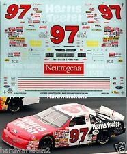 NASCAR DECAL #97 HARRIS TEETER 1995 FORD THUNDERBIRD - CHARLOTTE - CHAD LITTLE