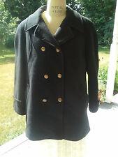 Mackintosh Short Black Wool Double Breasted Pea Coat Sailor / Med Pet