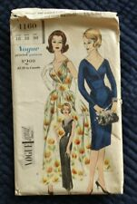 Vintage 1960 Vogue Special Design Pattern 4160 Draped Surplice Dress 38 Bust