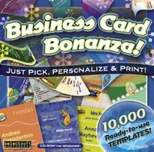 Business Card Bonanza  10,000 Ready-to-use Designs  Win XP Vista 7 8   NEW