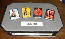 Zippo Collection 1996 Pinup Girls (4 Lighters) Emblem Seasons 1996 Design