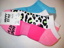Happy Style Socks Sport Low Cut Socks 3 Pair Shoe Size 5.5-9.5 NEW #30