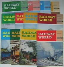 RAILWAY WORLD 1969  Magazine run complete in 12 issues